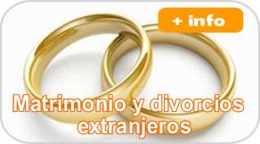 Matrimonio y divorcios extranjeros